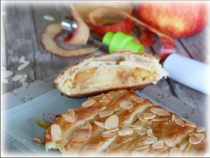 """ღ """" Miam """" Tresse aux pommes et à la crème d'amandes"""