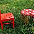 Bûche champignon