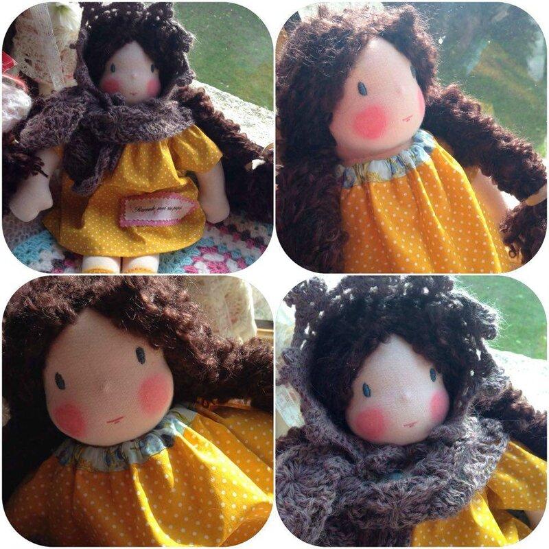 waldorf doll poupee artisanale poupee faite main