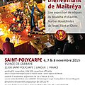 Tournee internationale des reliques du bouddha à l'abbaye de saint-polycarpe dans l'aude
