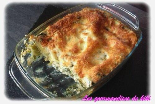 Lasagne aux saumons- poireaux