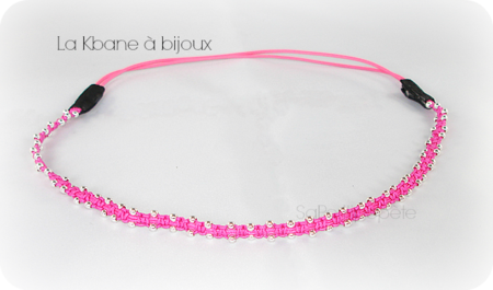 headband rose fluo1