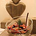 Nouilles soba aux carottes multicolores, romarin & pancetta