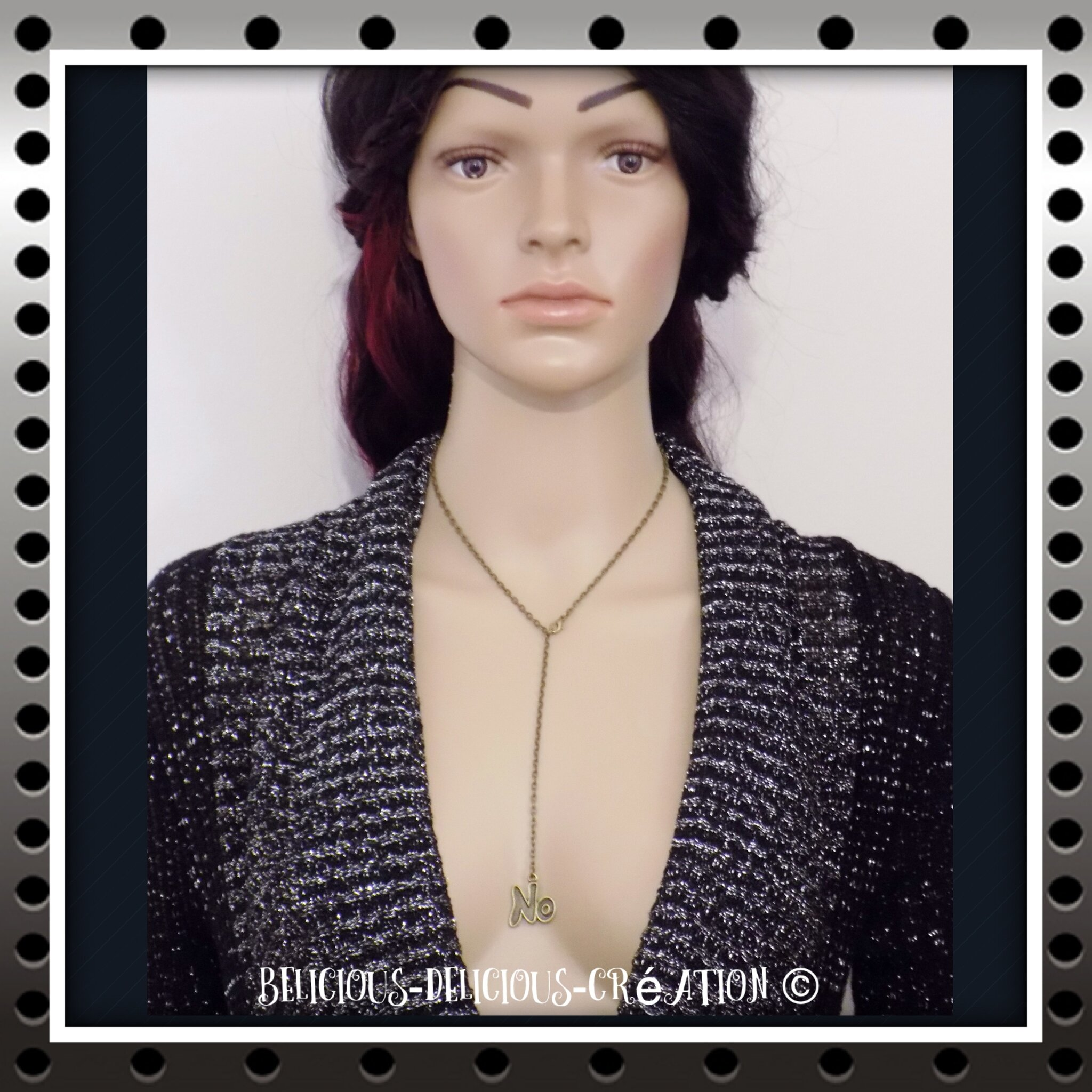Original Collier !! NO !! Anitique bronze T: 38cm metal bronze BELICIOUS-DELICIOUS-CREATION