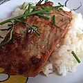 Gourmandises du dimanche - saumon teriyaki