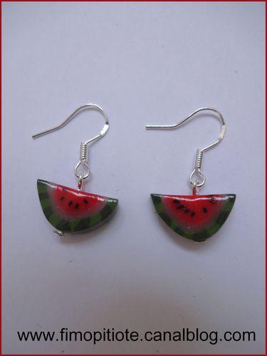 bijoux boucles d oreille fruit pate fimo (6)