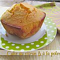 Cake au citron &  la polenta