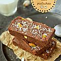 Brownie {chocolat/pistaches} #raw #vegan