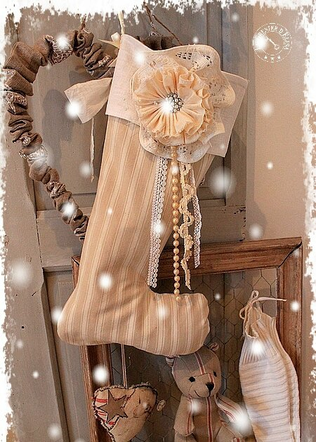 BOTTE PERE NOEL CAMPAGNE CHIC 35 €