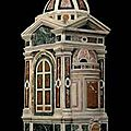 A polychrome marble tempietto. florentine, 16th century with some later additions