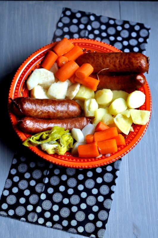 Cocotte de légumes d'hiver à la saucisse fumée