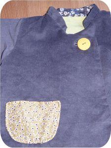 Manteau réversible Mila côté gris détail2