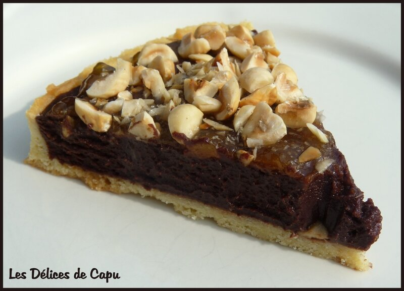 Tarte au chocolat et au nutella3