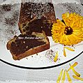 Cake marbré orange et chocolat...