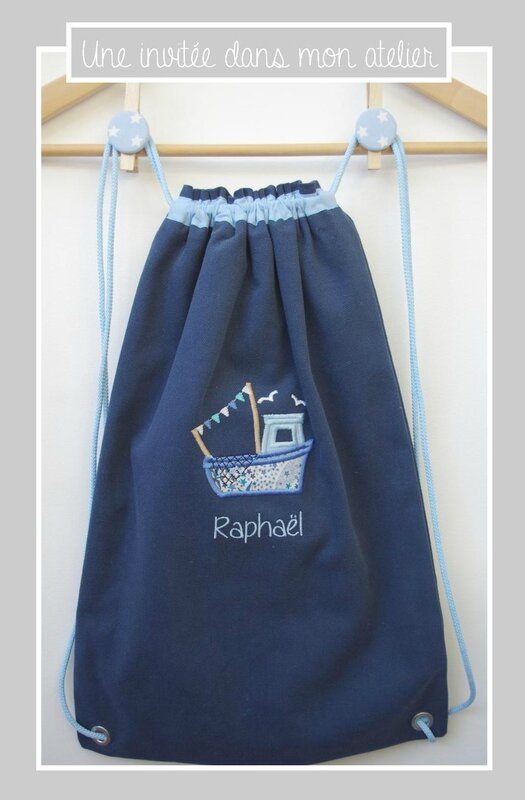 sac à dos pour enfants-personnalisé-bateau-Liberty adelajda bleu