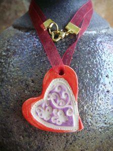 coeur rouge violet 1