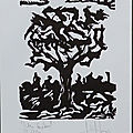 Osvaldo Jalil , L'arbre, xylographie, 2012, P1270980
