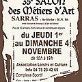 35e salon des metiers d'art de sarras (07)