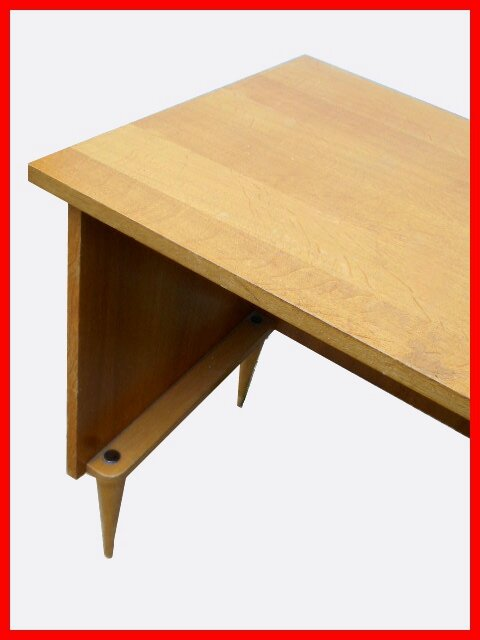 Petit bureau vintage bois clair