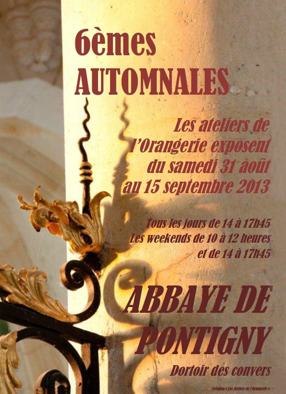 6 èmes AUTOMNALES - Pontigny 2013