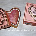 Mes nouveautes printanieres chez too faced 2eme partie:sweetheart peach beach;presentations/swatchs.....