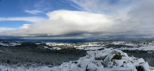 2008 10 30 Panorama depuis le sommet du Pic du Lizieux à 15h30