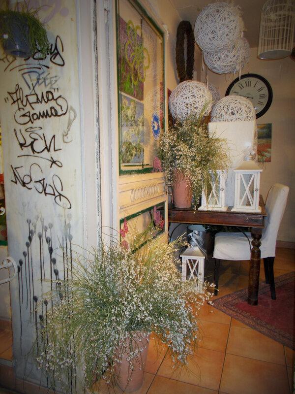 rue arachovis fleuriste intérieur