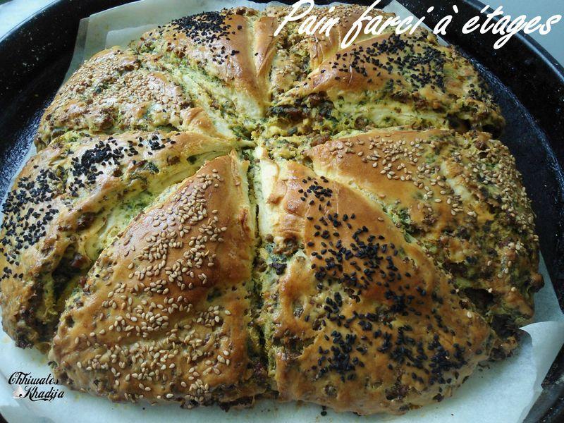 pain farci à étages