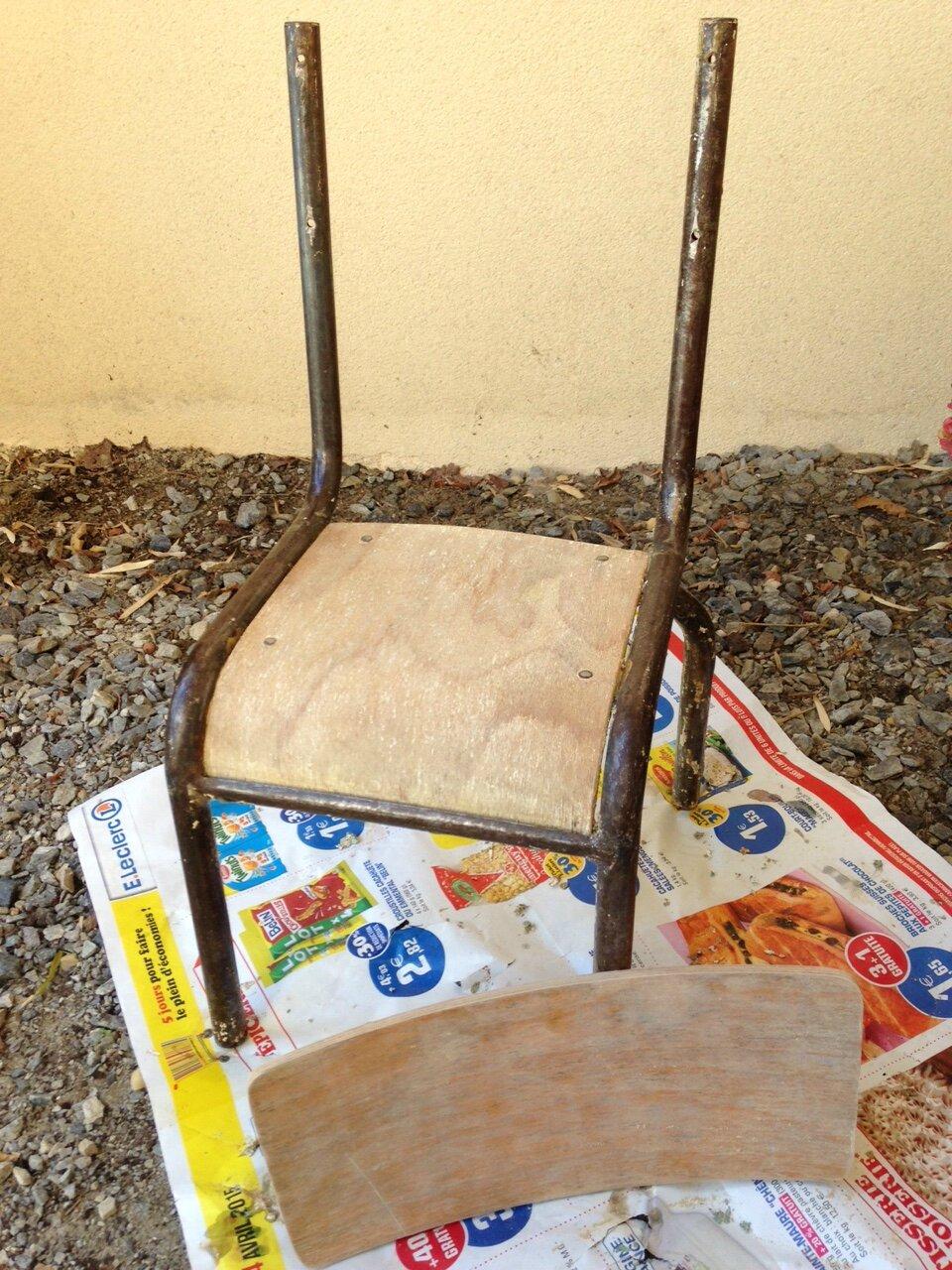 R novation d 39 une chaise d 39 colier mullca 510 le blog de mademois - Refaire assise chaise ...
