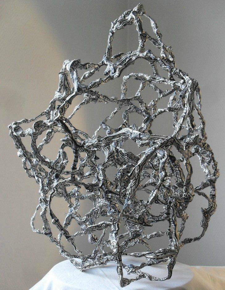 Hervé THAREL - SCHMIMBLOCK'S alba nera 2013 - acrylique sur plastiroc 57x49cm 13