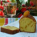 Cake au canada dry et kumquats confits