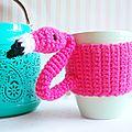 Mug cosy flamingo ~ la souris aux petits doigts