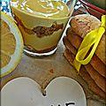 Lemon curd et tiramisu au citron - crema de limón y tiramisú al limón