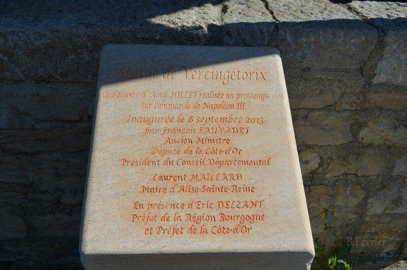 21150 Alise Ste Reine (Alesia) - Plaque commémorative.