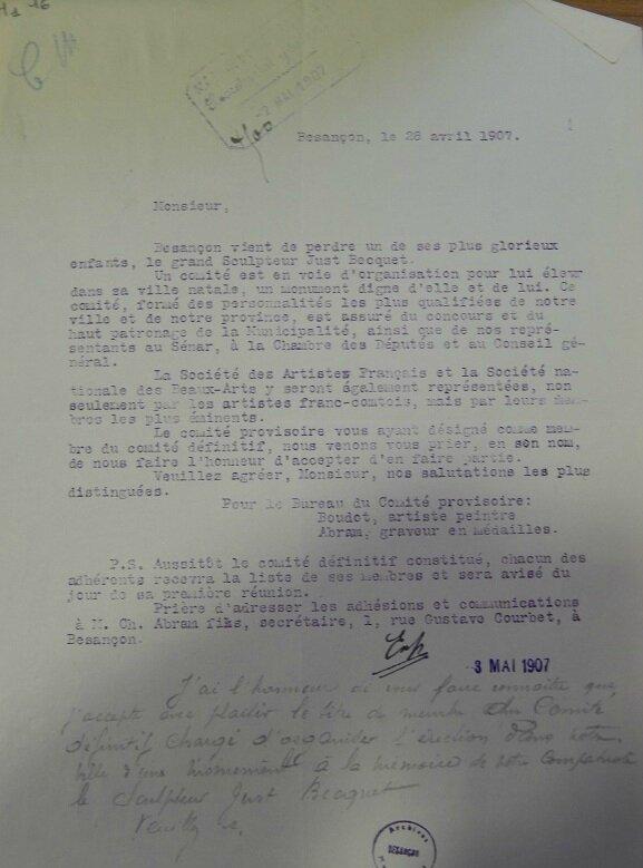 Becquet constitution comité provisoire