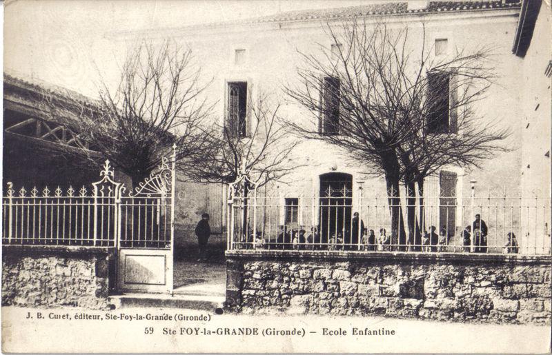L'école enfantine de Ste-Foy vers 1910