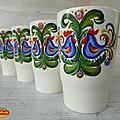 Vintage ... tasses villeroy & boch * motif coq