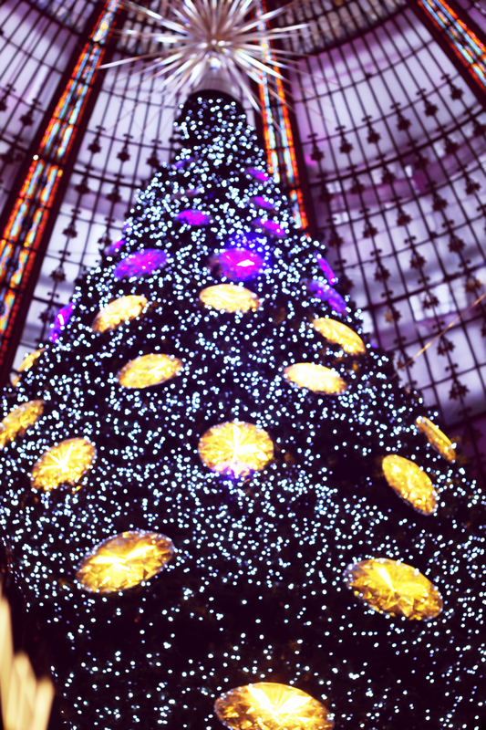 Christmas tree swarovski from galeries lafayette