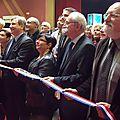 L'inauguration du 12e Salon du Livre d'Histoire de Woippy par François Grosdidier, Marie-Louise Kuntz, Marc Bojic et la famille de Lazare Ponticelli