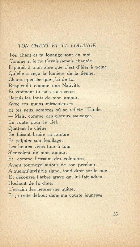 Poème Vigne amère;