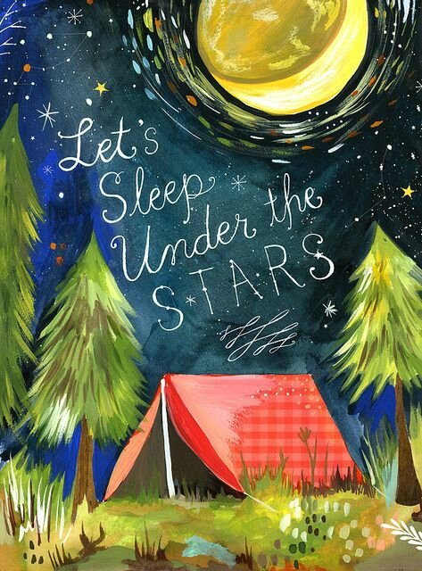 pose ta tente sous les étoiles