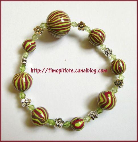 bijoux pate fimo collier bracelet boucles d oreilles 40 photo de bracelets fimo pitiote et. Black Bedroom Furniture Sets. Home Design Ideas