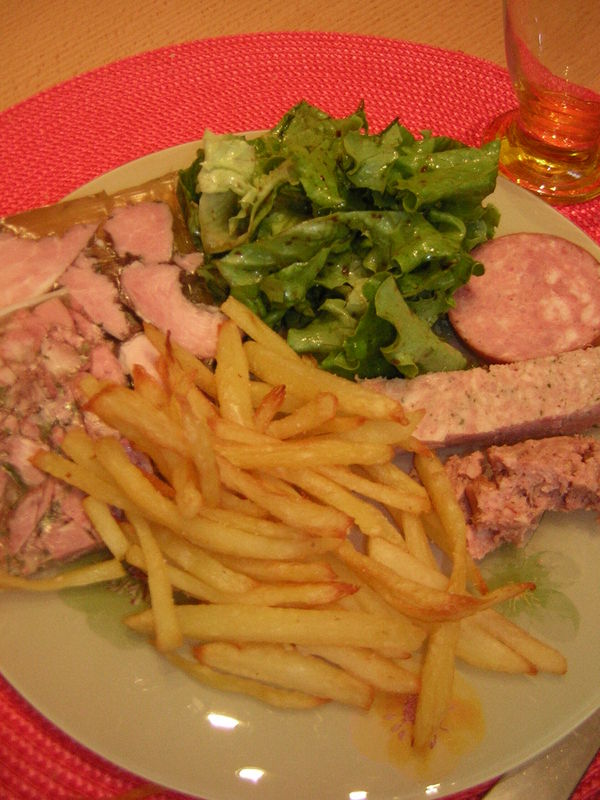 assiette campagnarde frittes