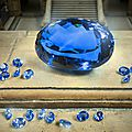 Largest known intense blue topaz faceted gemstone goes on display at the natural history museum