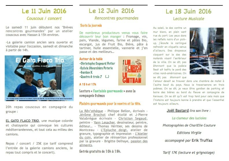 Rencontres gourmandes 2016