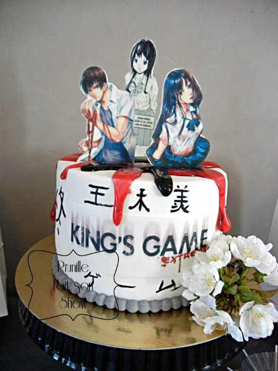 sweet table manga et japon prunillefee gateau manga king's game