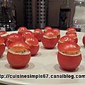 Tomates cerises farcies à la crème de saumon