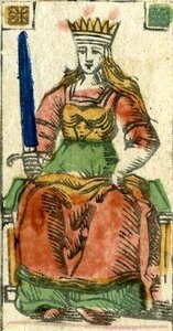 Queen of Swords Minchiate tarotdotorgil