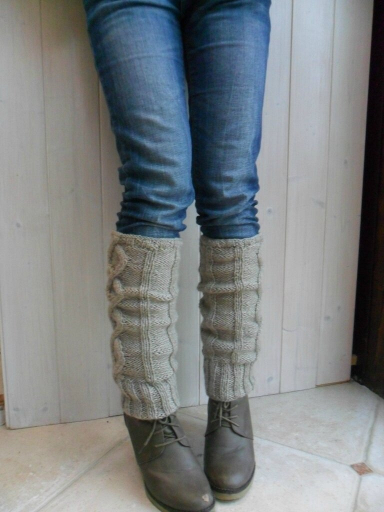 tricot guetres modele