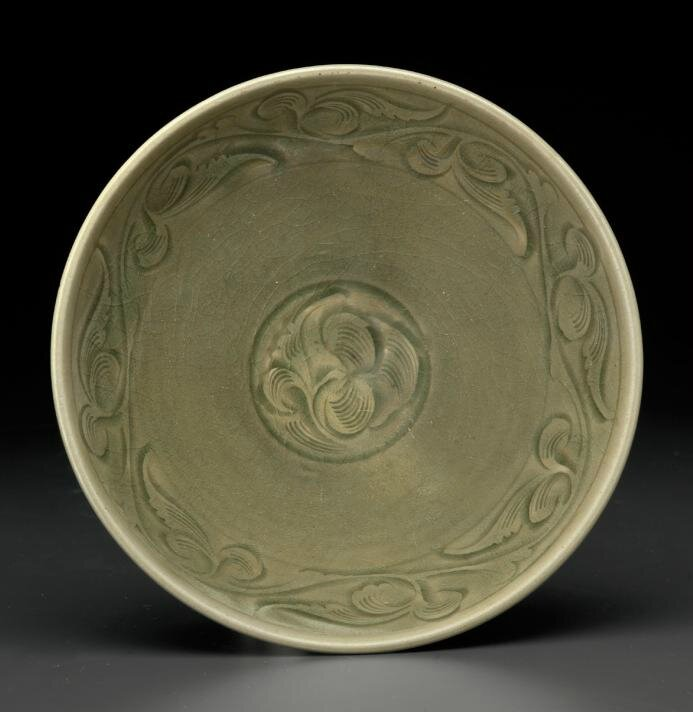 A Yaozhou celadon carved conical bowl, Northern Song dynasty (AD 960-1127)